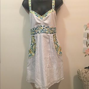 Free People Anthropologie embroider dress size 12